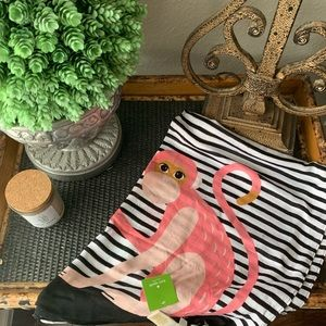 Kate Spade Monkey Rose Scarf Black - New with tag!